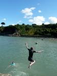 Swimming at Cwm yr Eglwys