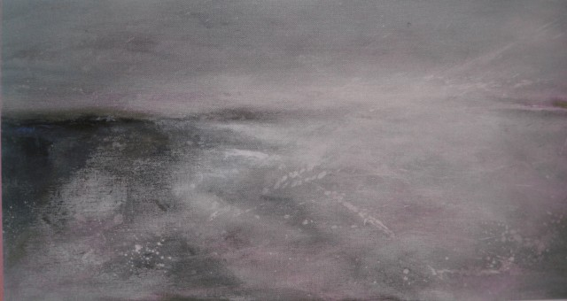 Dinas Coastal Walk. Acrylic on canvas by Ross Loveday.