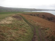 11. Going back towards Pwllgwaelod you can see over to Fishguard on the right.