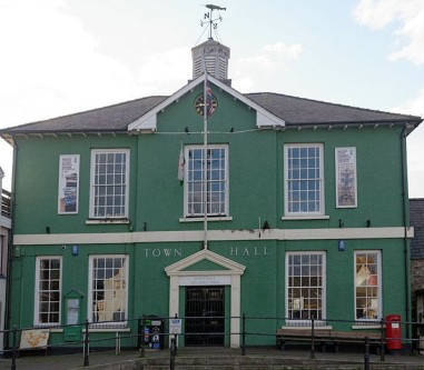 Fishguard Town Hall (photo by Talsarnau Times)