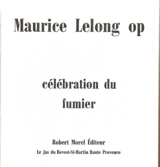 Celebration du Fumier by Maurice Lelong op