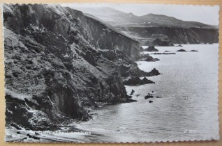 Cliffs at Pwll Gwaelod. Postcard 1950s