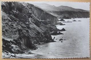 Cliffs at Pwll Gwaelod. Postcard 1950s