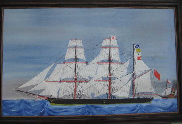 The Windrush, painted by a sailor on the ship