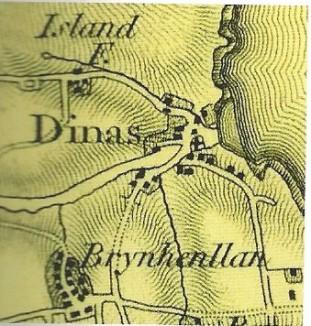 O.S. Map of Dinas - 1822