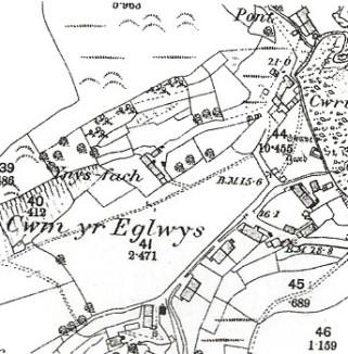 O.S. Map of Cwm yr Eglwys - 1889