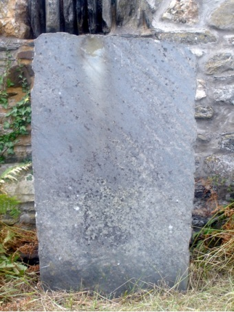 Gravestone no. 12 from Cwm yr Eglwys (no writing preserved)