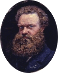 Self portrait  by John Brett 1883