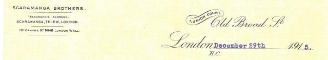 scaramanga letter to Capt Francis