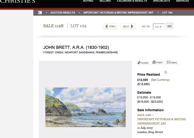 John Brett at Christie's