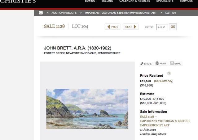 John Brett at Christie's