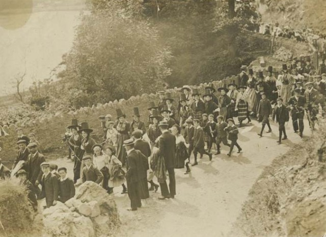 Celebrations at Fishguard on Mauretania Day