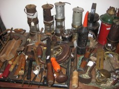 Oil lamps and tools