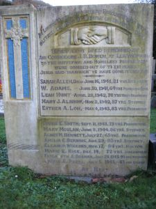 Headstone for the Nevern Evacuees