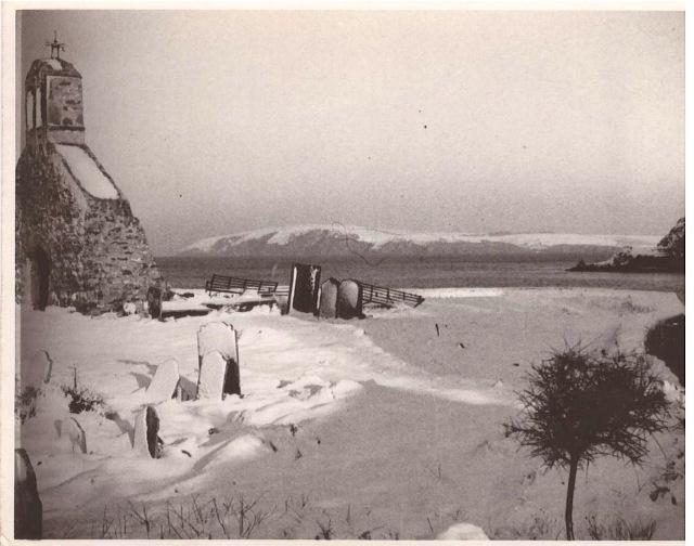 CwmyrEglwys under snow. C 1930?