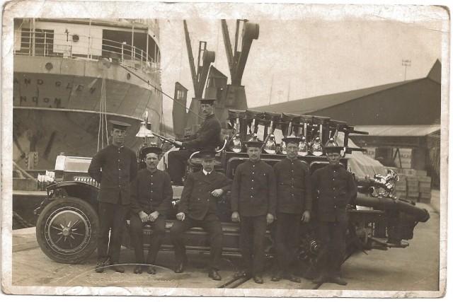 Evan George on fire engine