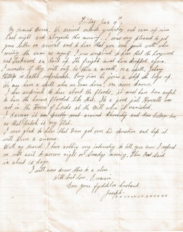 Joe Francis letter 2-4