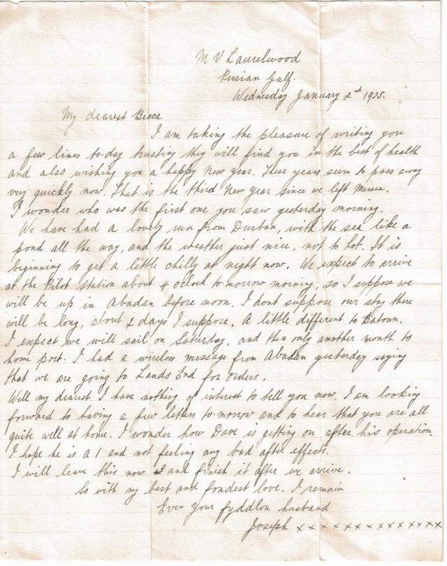 Joe Francis letter 3-2
