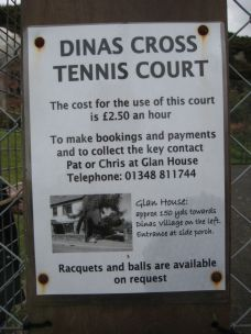 Dinas Tennis Court. Bookings.