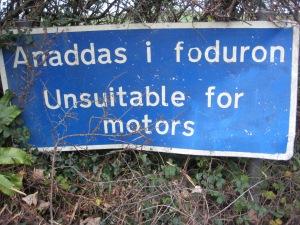 Anaddas i foduron - unsuitable for motors