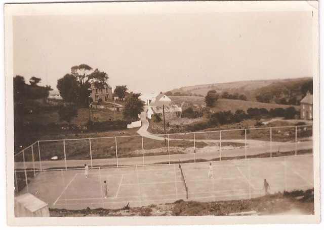 Dinas Tennis Court 1930s