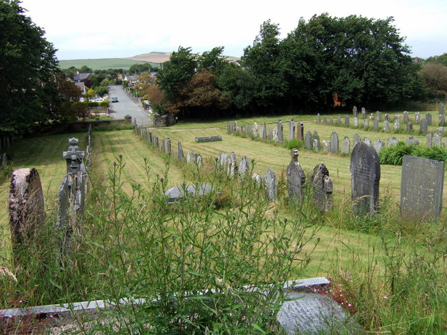 Machpelah cemetery The cemetery here, which is associated with Capel Tabor, was opened in 1834 and enlarged in 1906. Set on hillside above the village, it has a view across to Dinas Island and the sea to the north, very appropriate to the number of mariners buried here.  © Copyright ceridwen