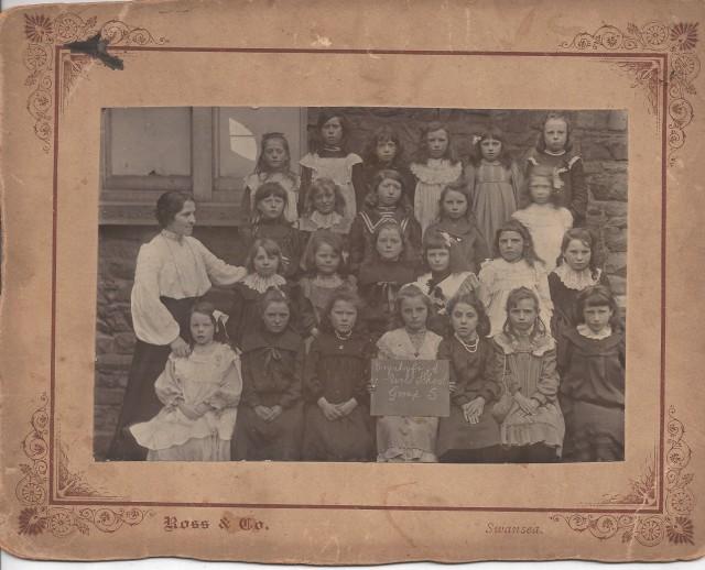 Brynhyfryd Girls School Group 5 with their teacher Mary Anne Harries.