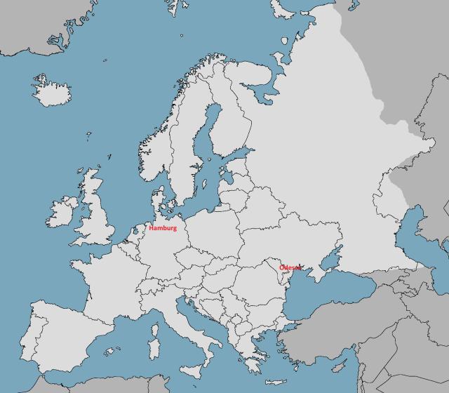 Odessa to Hamburg