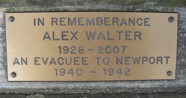 Alex Walter Evacuee bench