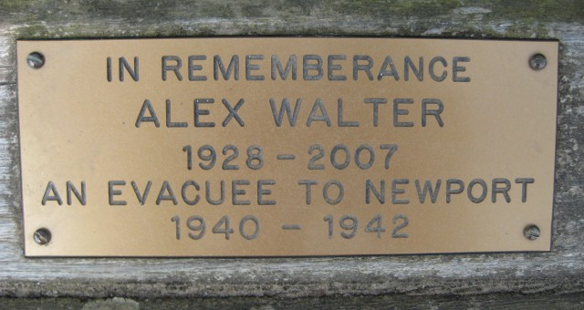 Alex Walter Evacuee bench